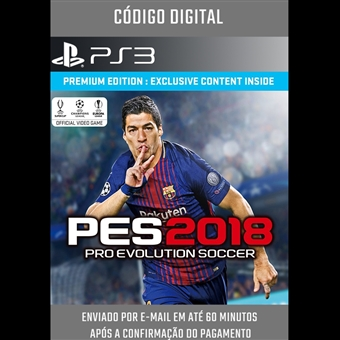 PRO EVOLUTION SOCCER PES 2018 - PS3 MÍDIA DIGITAL