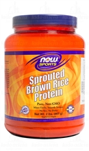Sprouted Brown Rice Protein (Proteína do Arroz) (2 LBS / 907g) - NOW Sports