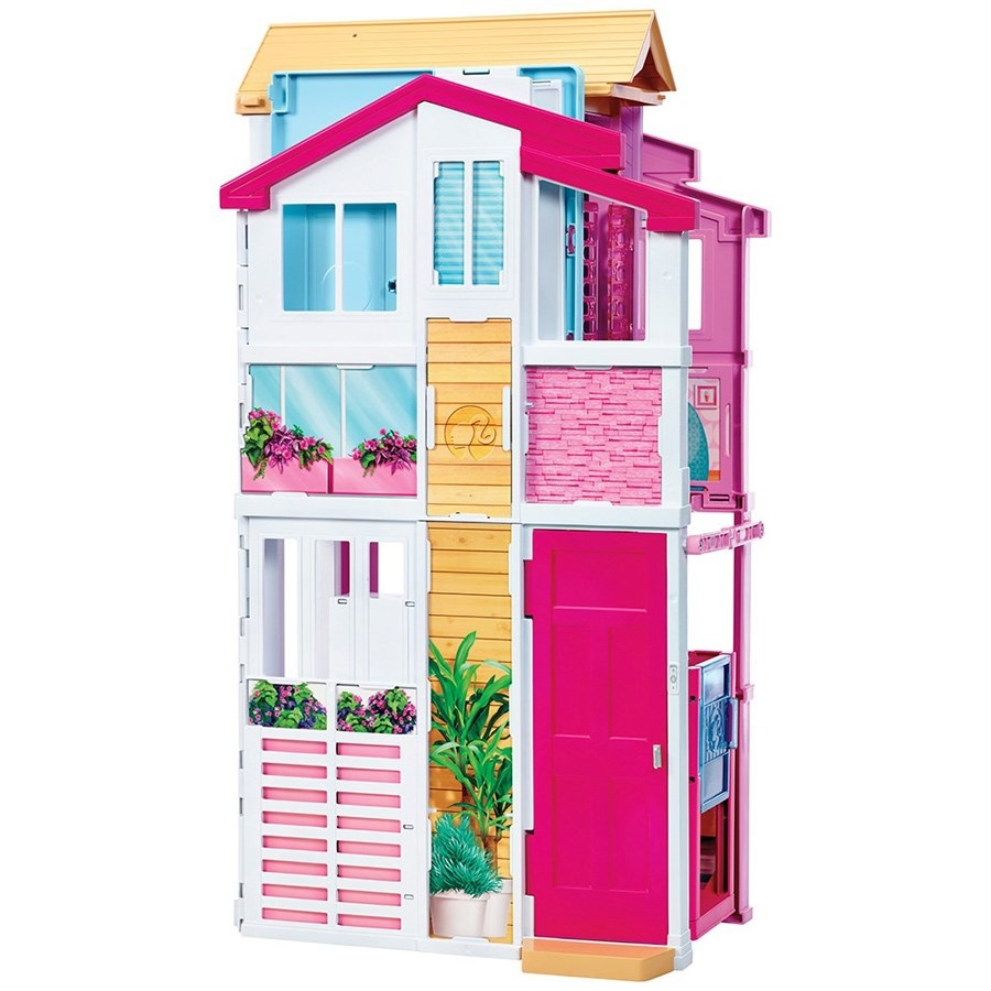 Real super casa 3 andares da barbie mattel jc - Supercasa de barbie ...