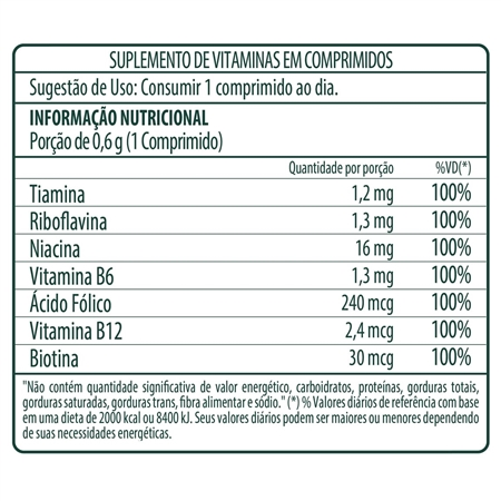 ffd9ae936 Complexo B (B-Complex) Vitavale 36 comprimidos - Nutridirect Suplementos
